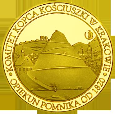 Front side Kopiec Kościuszki w Krakowie Złoty Kraków
