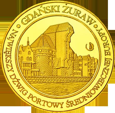 Front side Gdański Żuraw Złote Pomorskie