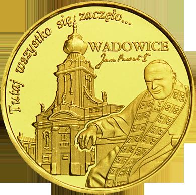 Front side Bazylika Ofiarowania Najświętszej Maryi Panny w Wadowicach Szlak Jana Pawła II