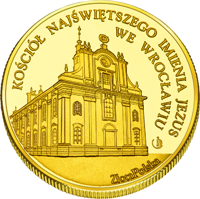 Front side Kościół Najświętszego Imienia Jezus we Wrocławiu Złoty Dolny Śląsk