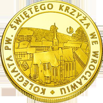Front side Kolegiata Świętego Krzyża we Wrocławiu Złote Dolnośląskie