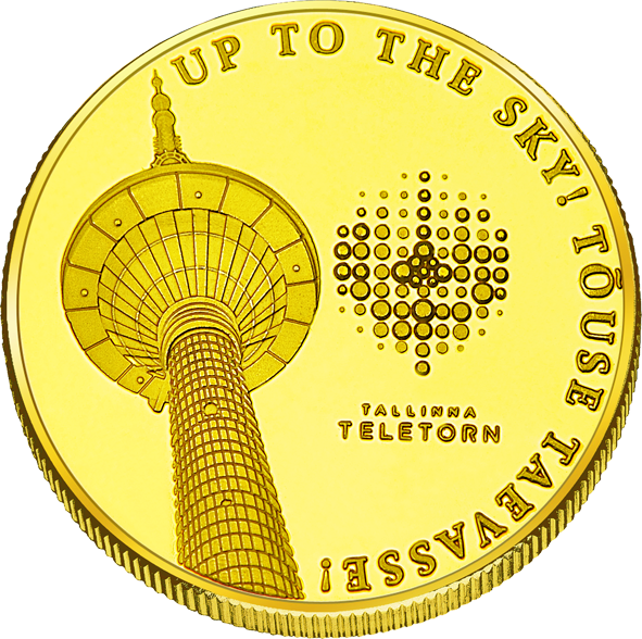 Front side Tallinna Teletorn Goldenes Estonia