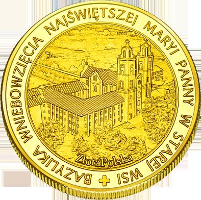 Front side Bazylika Wniebowzięcia Najświętszej Maryi Panny w Starej Wsi Złote Podkarpackie