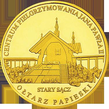 Front side Ołtarz Papieski w Starym Sączu Złote Małopolskie