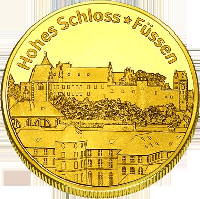 Front side Hohe Schloss Füssen Golden Germany