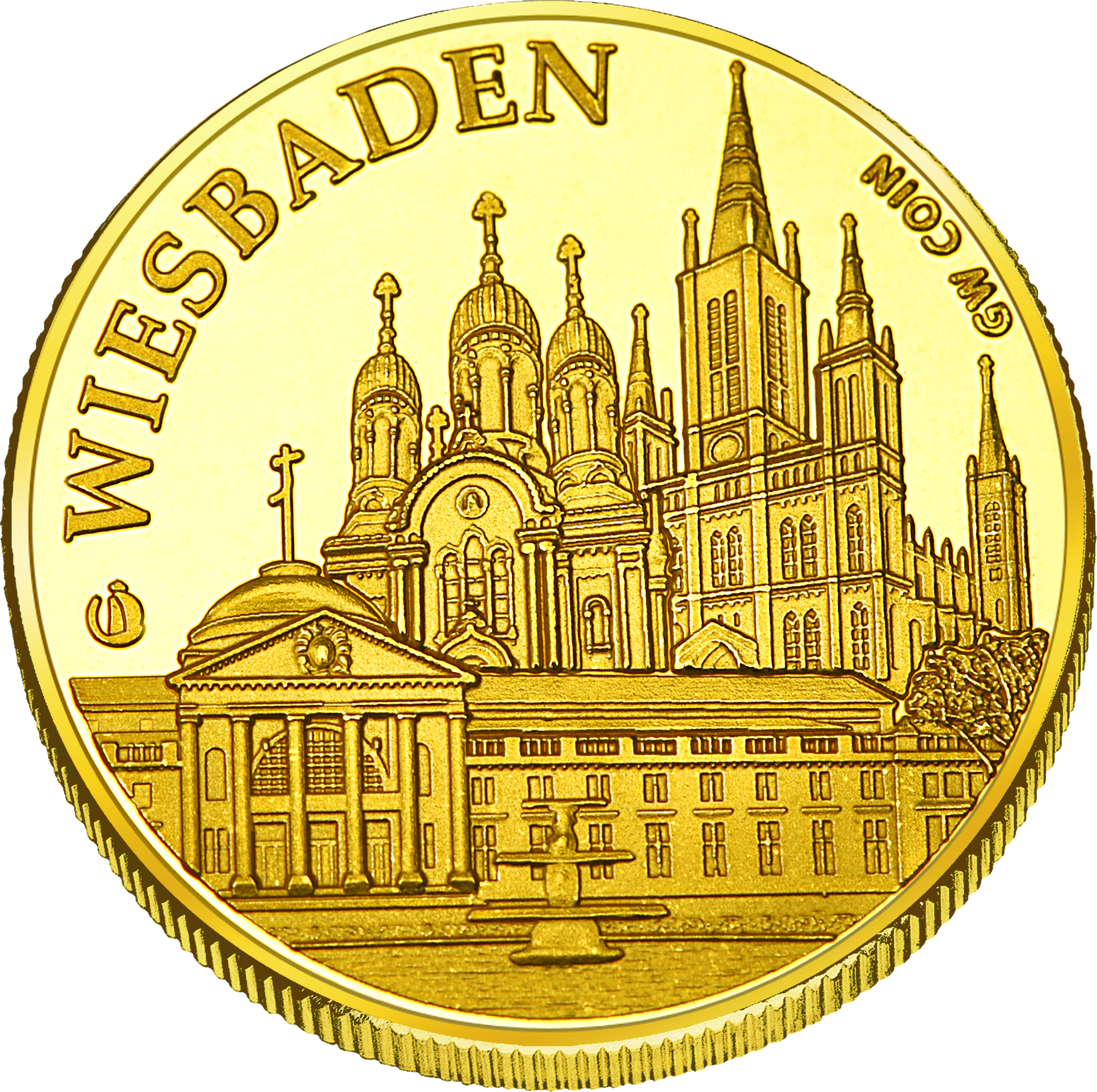 Front side Wiesbaden Golden Germany