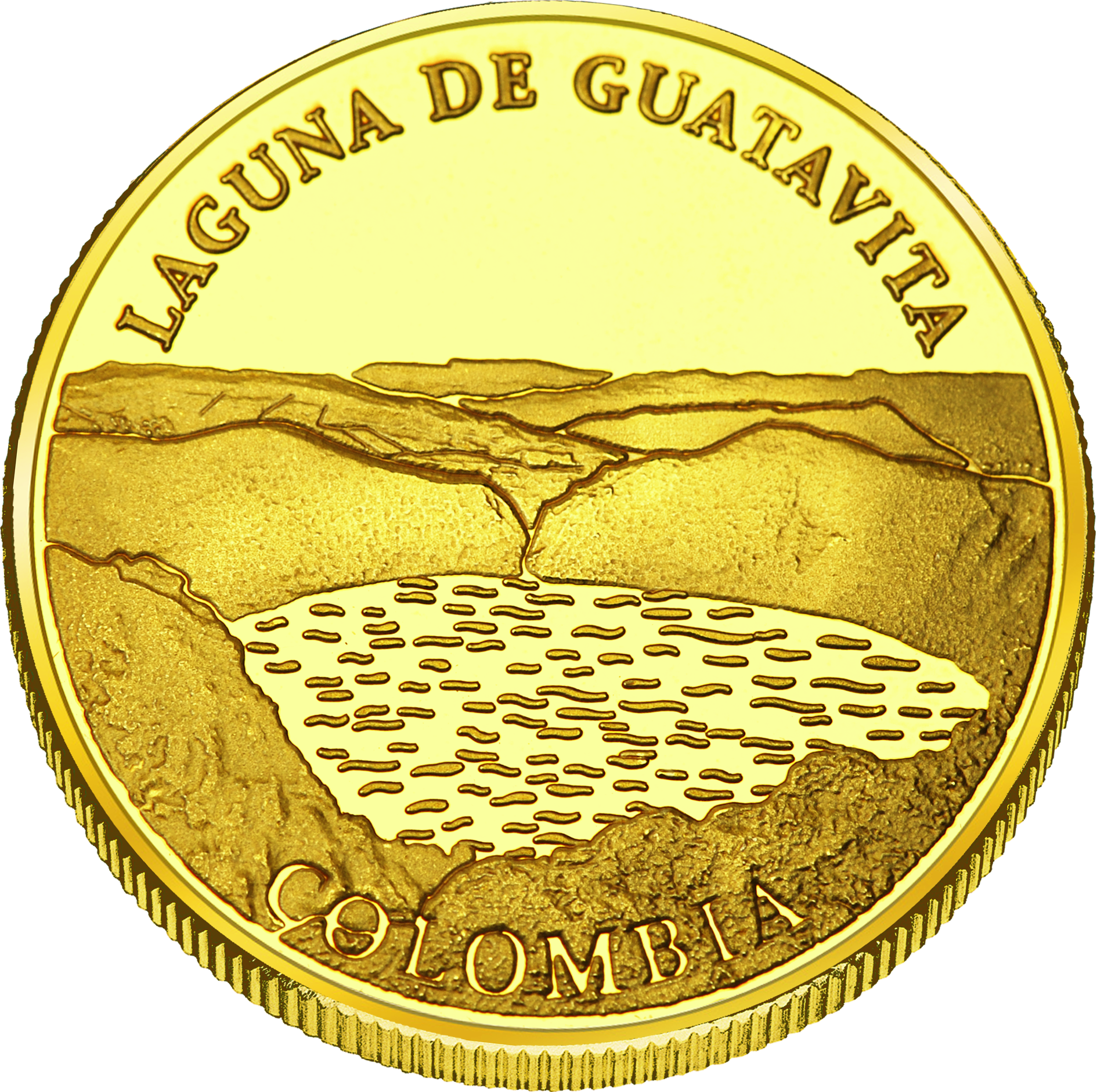 Front side Laguna de Guatavita Golden Columbia