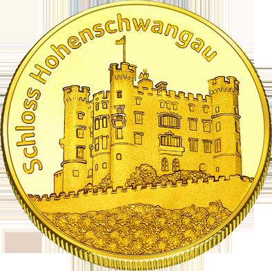 Front side Schloss Hohenschwangau Golden Germany