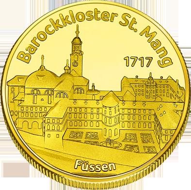 Front side Barockkloster Sankt Mang Füssen  Golden Germany