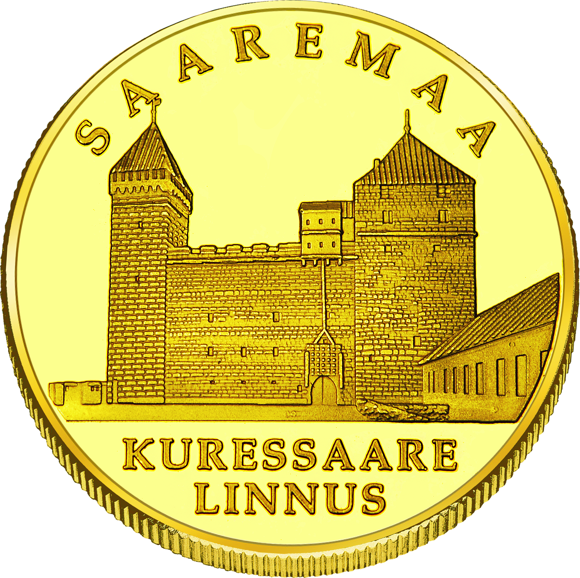Front side Kuressaare linnus Goldenes Estonia
