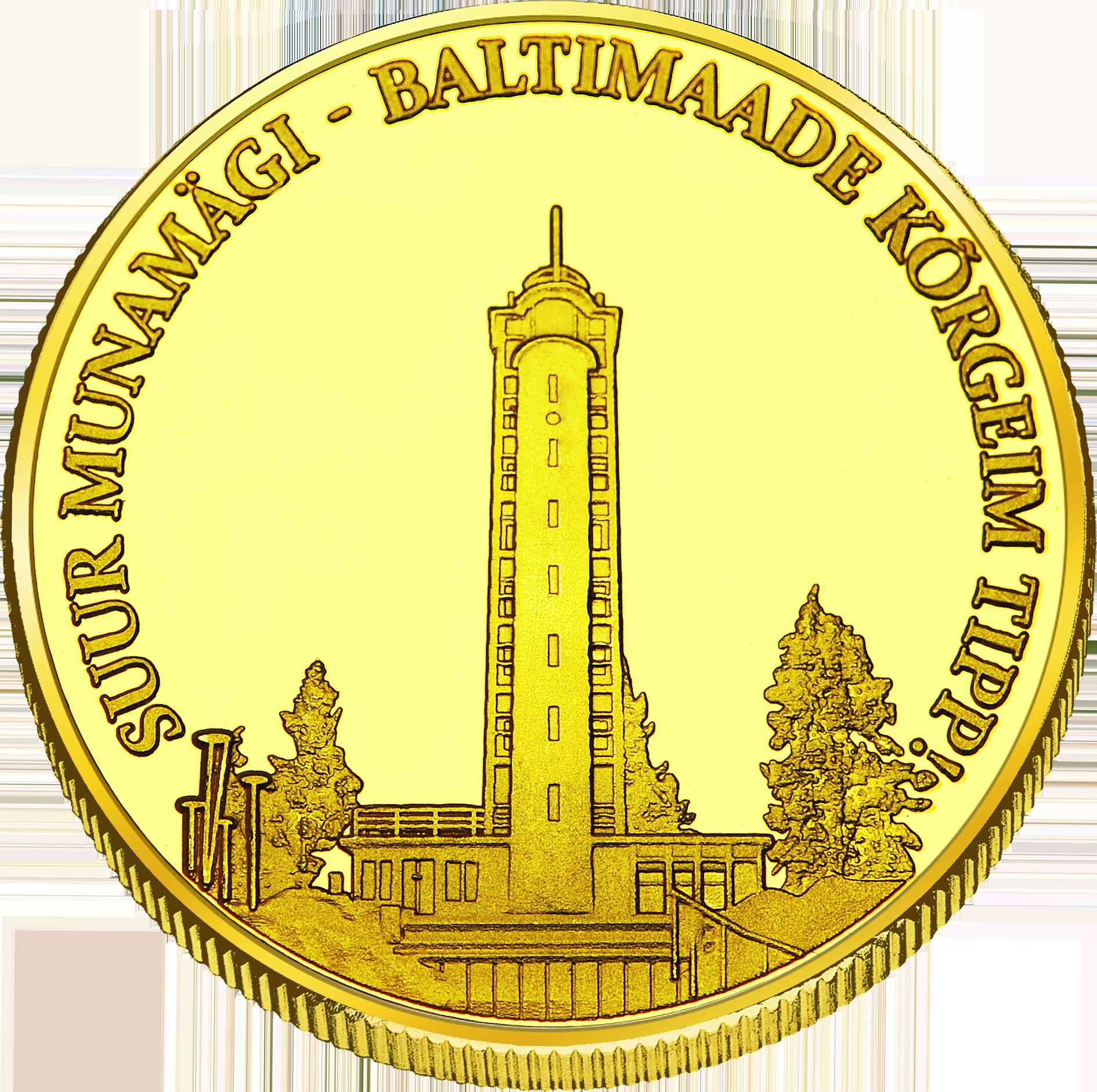 Front side Suur Munamägi Goldenes Estonia