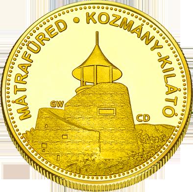 Back side of Sástó kilátó Golden Hungary