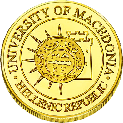 Back side of Πανεπιστήμιο Μακεδονία Golden Macedonia