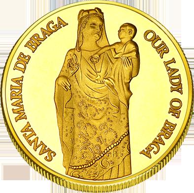 Back side of Sé de Braga Golden Portugal