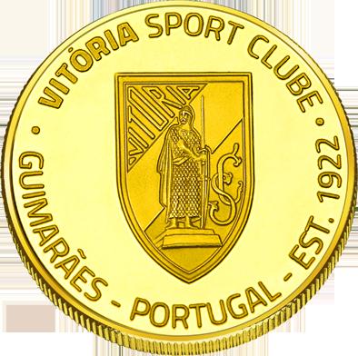 Back side of Vitória sport clube Guimarães Golden Portugal
