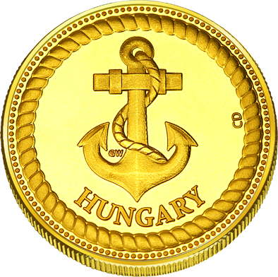 Back side of Balatonlelle Golden Hungary