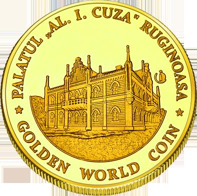 Back side of Palatul Cuza de la Ruginoasa Golden Romania