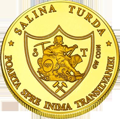 Back side of Salina Turda Golden Romania