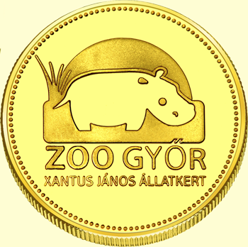 Back side of Győr Zoo Golden Hungary