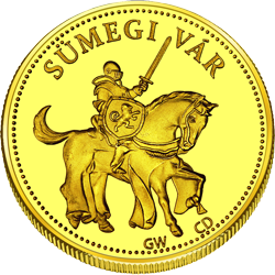 Back side of Sümegi Vár Golden Hungary