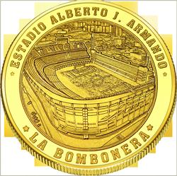 Back side of La Boca Caminito Golden Argentina