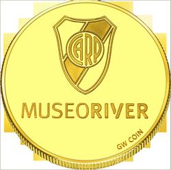 Back side of River Plate Golden Argentina