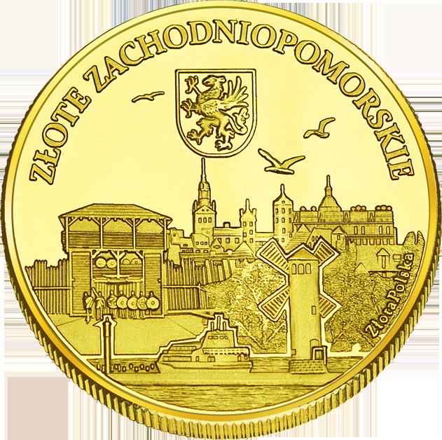 Back side of Brama Królewska w Szczecinie Złote Zachodnio-Pomorskie