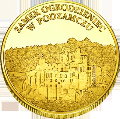 Back side of Gród na Górze Birów Złote Śląskie