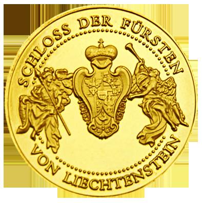 Back side of Liechtenstein Schloss Wilfersdorf Golden Austria