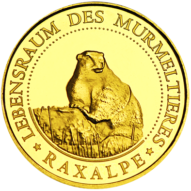 Back side of Rax-Seilbahn Golden Austria