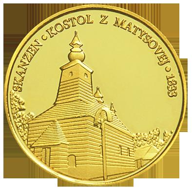 Back side of Ľubovniansky hrad Golden Slovakia