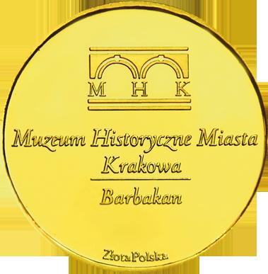 Back side of Barbakan w Krakowie Złoty Kraków