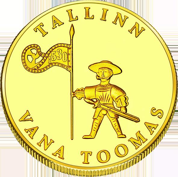 Front side Tallinna Raekoda Goldenes Estonia