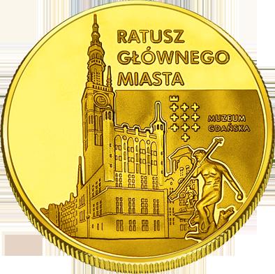Front side Ratusz Głównego Miasta Gdańska Złote Pomorskie