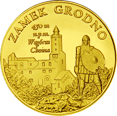 Front side Zamek Grodno Złote Dolnośląskie
