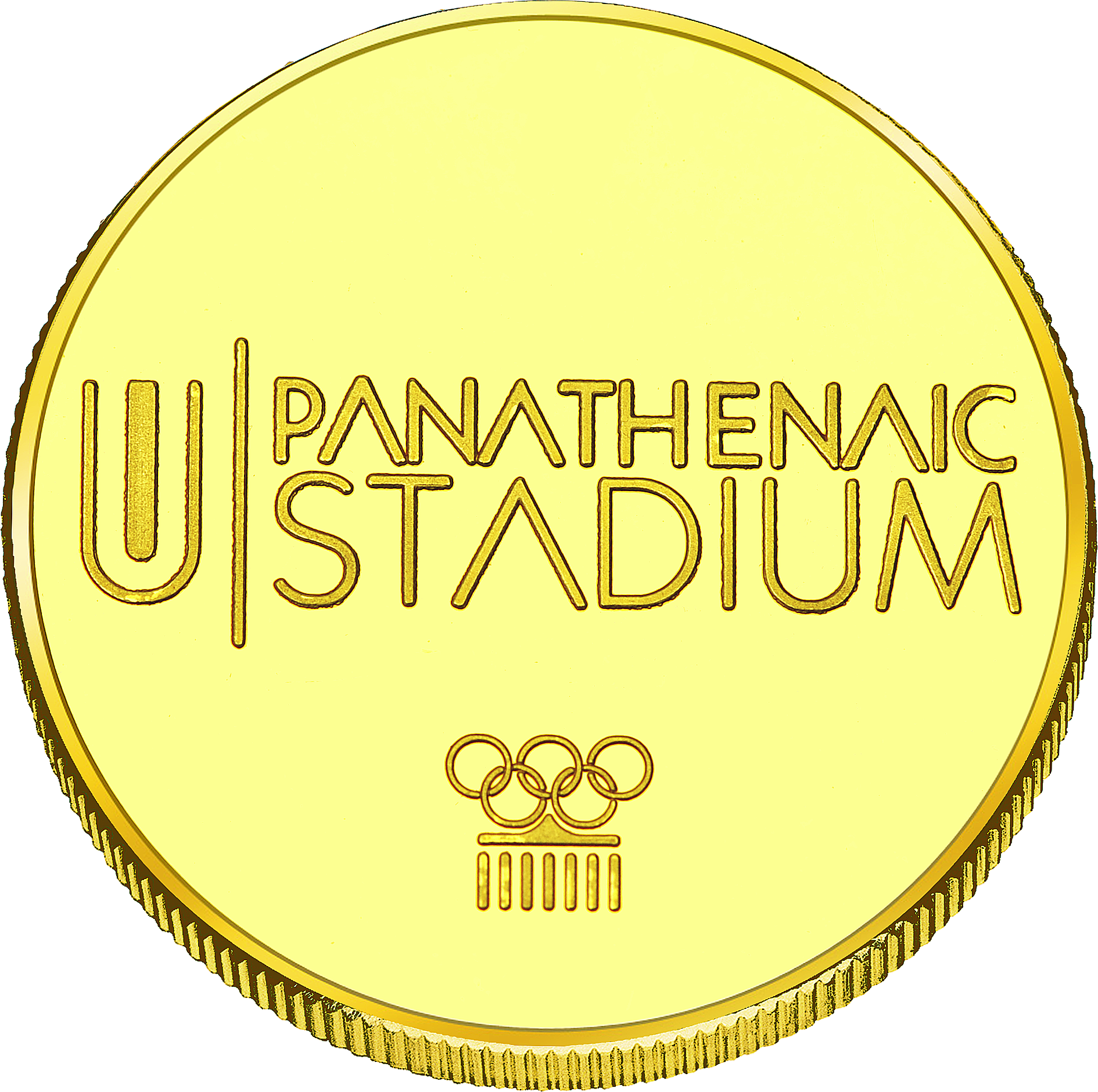 Front side Panathenaic Stadium Golden Greece