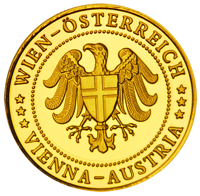 Back side of Bahnhof City Wien West Golden Austria