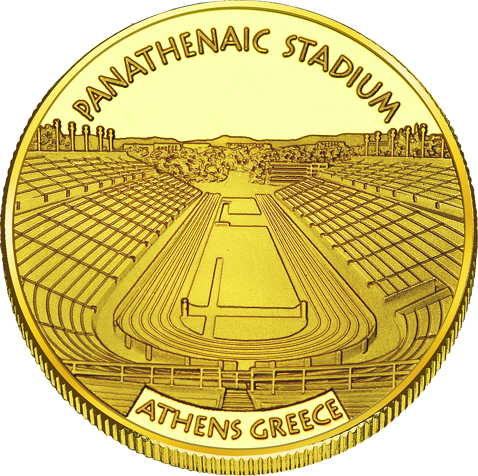Back side of Panathenaic Stadium Golden Greece
