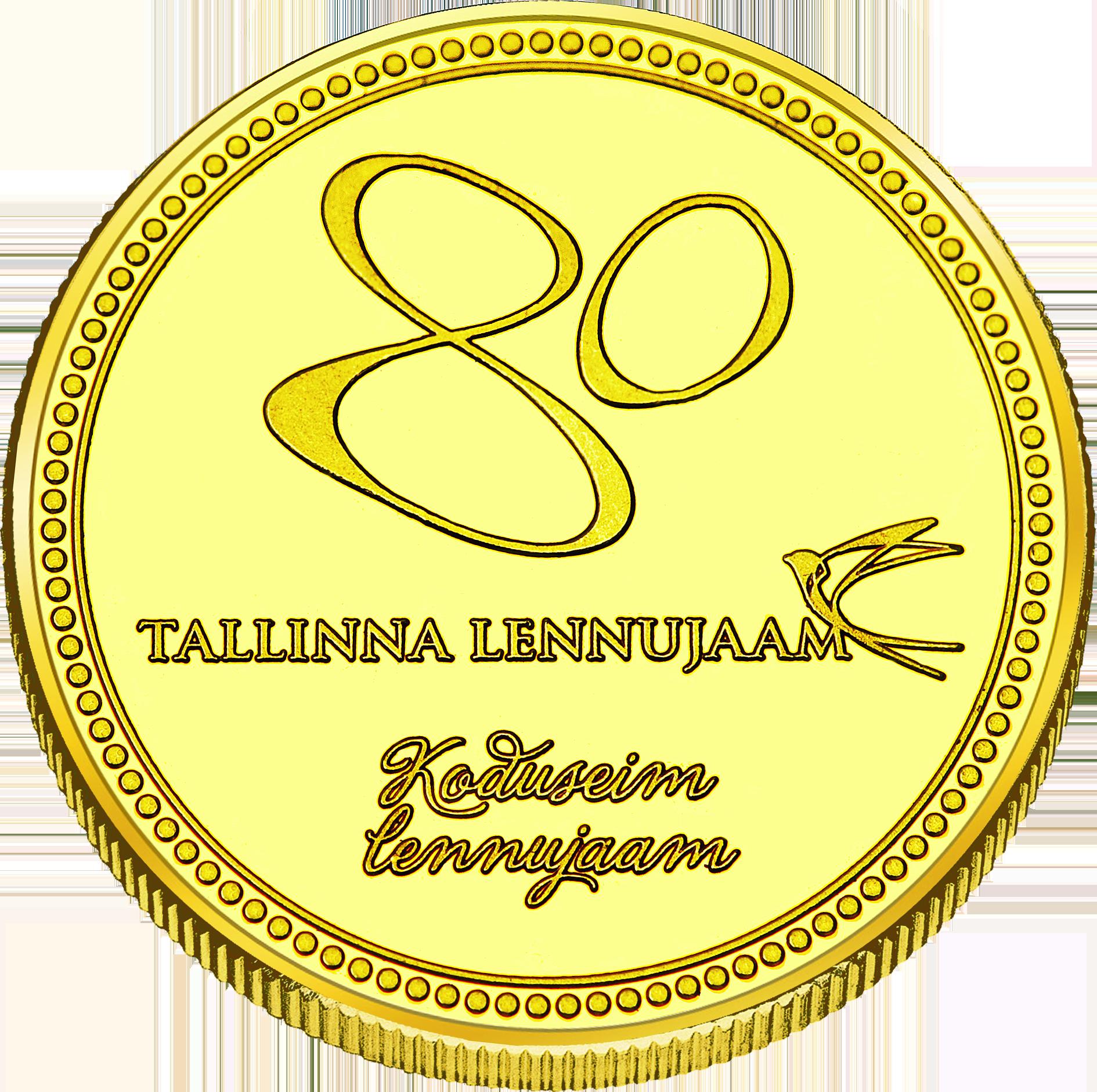 Back side of Tallinna Lennujaam Goldenes Estonia