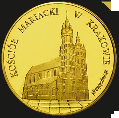 Front side Bazylika Mariacka w Krakowie Złoty Kraków