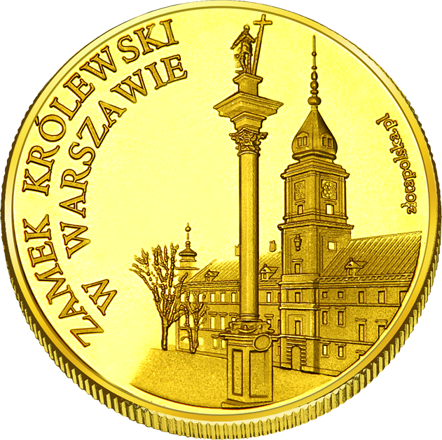 Front side Zamek Królewski w Warszawie - Muzeum. Rezydencja Królów i Rzeczypospolitej. Złote Zamki i Pałace