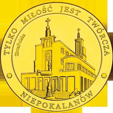 Front side Klasztor Niepokalanów w Paprotni Złote Mazowieckie