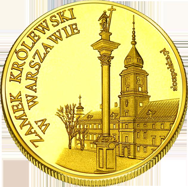 Front side Zamek Królewski w Warszawie - Muzeum. Rezydencja Królów i Rzeczypospolitej Złote Mazowieckie