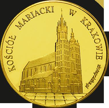Front side Bazylika Mariacka w Krakowie Złote Małopolskie